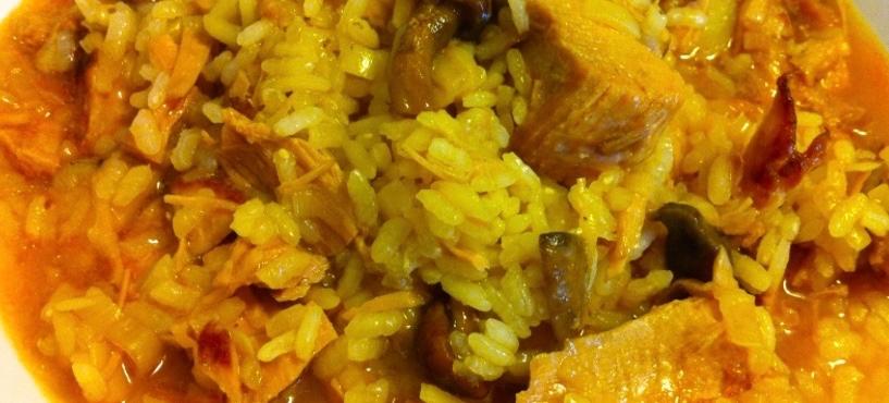 Arroz Caldoso Con Setas Y Pollo monolith espaÑa | arroz de pollo y setas